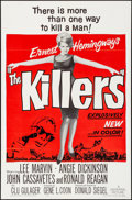 "Movie Posters:Crime, The Killers (Universal, 1964). Folded, Very Fine+. One Sheet (27"" X 41""). Crime.. ..."