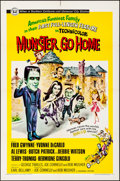 """Movie Posters:Comedy, Munster, Go Home (Universal, 1966). Folded, Very Fine-. One Sheet (27"""" X 41""""). Comedy.. ..."""