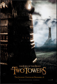 """The Lord of the Rings: The Two Towers (New Line, 2002). Rolled, Very Fine-. One Sheet (26.75"""" X 39.75"""" & 2..."""