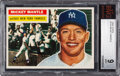 Baseball Cards:Singles (1950-1959), 1956 Topps Mickey Mantle #135 BVG Mint 9 - Pop Two, None Higher. ...