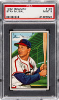 Baseball Cards:Singles (1950-1959), 1952 Bowman Stan Musial #196 PSA Mint 9 - Only One Higher....