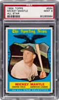 Baseball Cards:Singles (1950-1959), 1959 Topps Mickey Mantle All Star #564 PSA Mint 9....