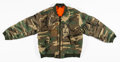 Collectible:Contemporary, Raf Simons (Belgian, b. 1968). Riot Riot Riot, 2001. Camo bomber jacket. One Size. ...