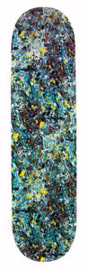 Collectible:Contemporary, After Jackson Pollock X Medicom Toy. Skate Deck, 2015. Digital print on skate deck. 32 x 8 inches (81.3 x 20.3 cm). Prod...
