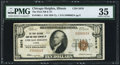 National Bank Notes:Illinois, Chicago Heights, IL - $10 1929 Ty. 1 The First NB and TC Ch. # 5876PMG Choice Very Fine 35.. ...