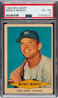 1954 Red Heart Mickey Mantle PSA VG-EX 4