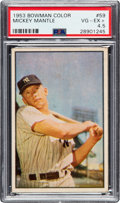 Baseball Cards:Singles (1950-1959), 1953 Bowman Color Mickey Mantle #59 PSA VG-EX+ 4.5....