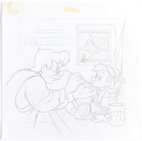 Pinocchio CD Cover Preliminary Illustration and Concept Art (Walt Disney, c. 1990s). ... (Total: 2 Items)