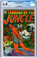 Golden Age (1938-1955):Adventure, Terrors of the Jungle #7 (Star Publications, 1953) CGC FN 6.0Off-white to white pages....