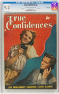 Golden Age (1938-1955):Romance, True Confidences #1 Crowley Copy Pedigree (Fawcett Publications,1949) CGC NM- 9.2 Cream to off-white pages....