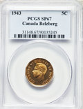 Canada, George VI 5 Cents 1943 SP67 PCGS,...