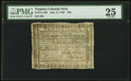 Virginia July 14, 1780 $45 PMG Very Fine 25