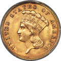 Three Dollar Gold Pieces, 1888 $3 MS64+ PCGS. CAC....
