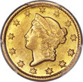 Gold Dollars, 1850-D G$1 AU58 PCGS. CAC. Variety 2-C. ...