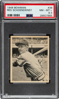 Baseball Cards:Singles (1940-1949), 1948 Bowman Red Schoendienst #38 PSA NM-MT+ 8.5....