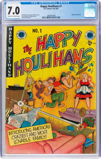The Happy Houlihans #1 (EC, 1947) CGC FN/VF 7.0 Cream to off-white pages