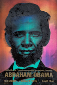 Ron English (b. 1959) Abraham Obama (Gold Lettering), 2009 Lenticular 3-color flip with silkscreened