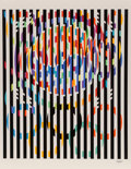 Prints & Multiples:Print, Yaacov Agam (b. 1928). Message of Peace, from Official Arts Portfolio of the XXIVth Olympiad, Seoul, Korea, 1988. Se...