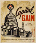 Prints & Multiples:Print, Shepard Fairey (b. 1970). Capital Gain, 2015. Screenprint in colors on cream speckled paper. 24 x 18 inches (61 x 45.7 c...