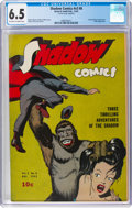 Golden Age (1938-1955):Crime, Shadow Comics V3#8 (Street & Smith, 1943) CGC FN+ 6.5 Off-white to white pages....