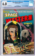 Golden Age (1938-1955):Science Fiction, Space Western #43 (Charlton, 1953) CGC FN 6.0 Off-white to white pages....