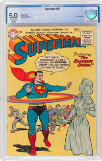 Superman #101 (DC, 1955) CBCS VG/FN 5.0 Off-white to white pages
