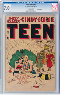 Teen Comics #25 (Marvel, 1948) CGC FN/VF 7.0 Off-white pages