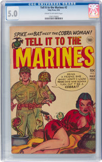 Tell it to the Marines #2 (Toby Publishing, 1952) CGC VG/FN 5.0 Cream to off-white pages