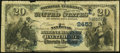 National Bank Notes:Maryland, Baltimore, MD - $20 1882 Date Back Fr. 555 The National Marine Bank Ch. # (E)2453 Very Good-Fine.. ...