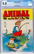 Golden Age (1938-1955):Funny Animal, Animal Comics #14 (Dell, 1945) CGC VF/NM 9.0 Off-white to white pages....