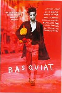 Basquiat Film Poster With Major Cast Listed Including David Bowie and Courtney Love (1996)