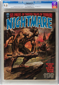 Nightmare #3 (Skywald, 1971) CGC VF/NM 9.0 Off-white to white pages