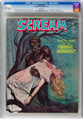 Magazines:Horror, Scream #4 (Skywald, 1974) CGC NM+ 9.6 White pages....