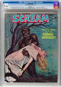 Scream #4 (Skywald, 1974) CGC NM+ 9.6 White pages
