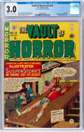 Golden Age (1938-1955):Horror, Vault of Horror #12 (#1) (EC, 1950) CGC GD/VG 3.0 Cream tooff-white pages....