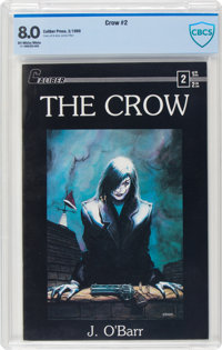 The Crow #2 (Caliber Press, 1989) CBCS VF 8.0 Off-white to white pages