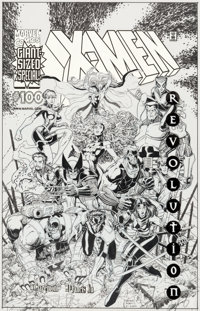 Arthur Adams X-Men #100 Cover Original Art (Marvel, 2000)