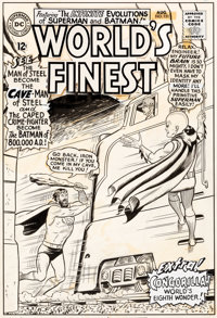 Curt Swan and George Klein World's Finest Comics #151 Cover Original Art (DC, 1965)