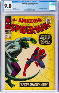 The Amazing Spider-Man #45 (Marvel, 1967) CGC VF/NM 9.0 Off-white to white pages