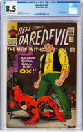 Silver Age (1956-1969):Superhero, Daredevil #15 (Marvel, 1966) CGC VF+ 8.5 Off-white to white pages....