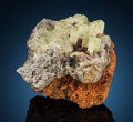 Minerals:Small Cabinet, Leadhillite, Cerussite & Wulfenite. Mammoth-St Anthony Mine, St. Anthony Deposit, Tiger, Mammoth District, Pinal Co.... (Total: 2 Items)