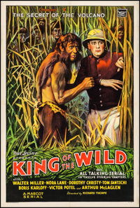 """King of the Wild (Mascot, 1931). Fine+ on Linen. One Sheet (27.5"""" X 40.75"""") Chapter 4 -- """"The Secret of t..."""