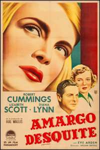 """Paid in Full (Paramount, 1950). Very Fine- on Linen. Argentinean One Sheet (29"""" X 43.25""""). Drama"""