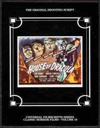 House of Dracula Shooting Script (MagicImage Filmbooks, 1993). Very Fine. First Edition Softbound Shooting Script (Multi...