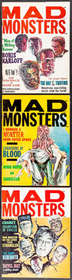 "Mad Monsters & Other Lot (Charlton, 1963-1964). Fine/Very Fine. Magazines (7) (Multiple Pages, 8.5"" X 11&qu..."