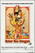 "Movie Posters:Action, Enter the Dragon (Warner Brothers, 1973). Folded, Very Fine. One Sheet (27"" X 41""). Bob Peak Artwork. Action.. ..."
