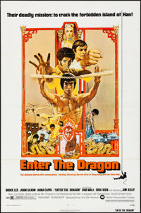"Enter the Dragon (Warner Brothers, 1973). Folded, Very Fine. One Sheet (27"" X 41""). Bob Peak Artwork. Action..."