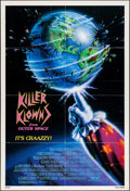 "Movie Posters:Science Fiction, Killer Klowns from Outer Space (TWE, 1988). Folded, Very Fine-. OneSheet (27"" X 41""). Science Fiction.. ..."
