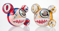 Takashi Murakami X ComplexCon Mr. Dob, set of two, 2016 Painted cast vinyl 9-1/4 x 10-3/4 inches