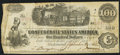 Confederate Notes:1862 Issues, T40 $100 1862 Fine.. ...
